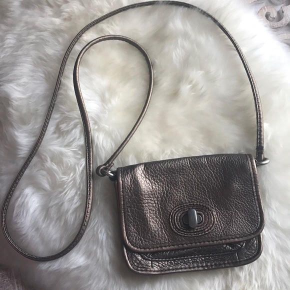 Handbags - Fossil cross body copper color